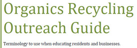 Organics recycling outreach guide heading